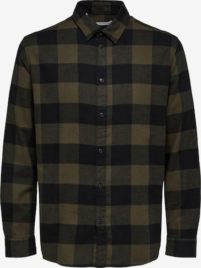 SELECTED HOMME Skjorta i mörkblå / oliv / mörkgrön, Produktvy