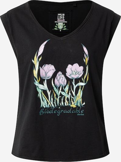 Derbe Shirt 'Flower Skull  C2C' in de kleur Gemengde kleuren / Zwart, Productweergave