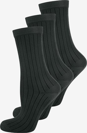 ELBEO Socks ' 3-Pack Fashion Ribs ' in Black, Item view