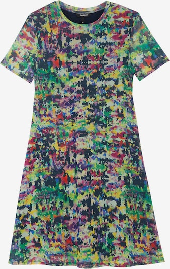Rochie de vară 'ANN' Desigual pe bleumarin / verde iarbă / verde pastel / mov zmeură / mov închis, Vizualizare produs