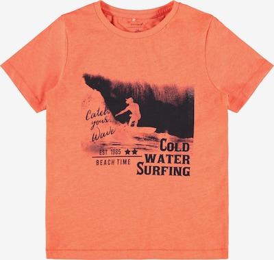 NAME IT Shirt 'ZATURO' in de kleur Koraal / Zwart, Productweergave