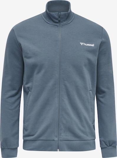 Hummel Sportsweatvest in de kleur Smoky blue / Wit, Productweergave