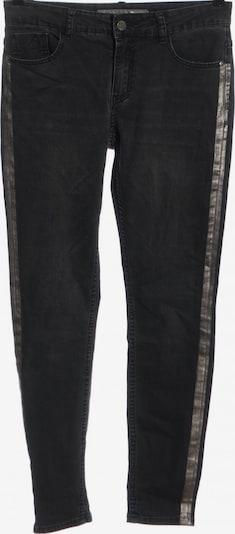 Geisha Röhrenjeans in 27-28 in hellgrau / schwarz, Produktansicht