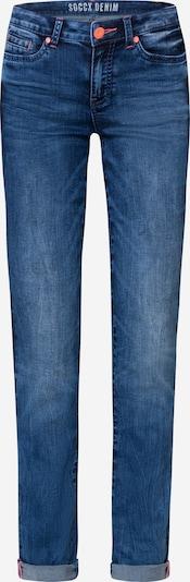 Soccx Jeans RO:MY mit Used-Optik und Kontrastknopf in blau, Produktansicht