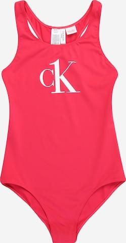 Calvin Klein Swimwear Jednodielne plavky - ružová