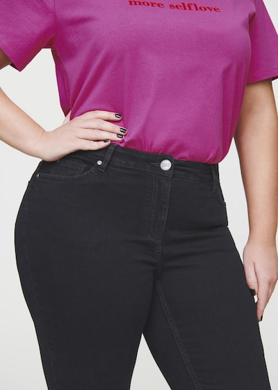 Rock Your Curves by Angelina K. 5-Pocket-Stretch-Jeans in schwarz, Produktansicht