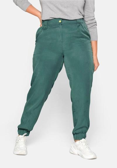 SHEEGO Pantalon en vert, Vue avec modèle