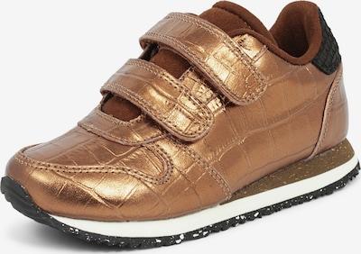 WODEN Kids Sneaker 'Sandra Croco Shiny' in goldgelb, Produktansicht