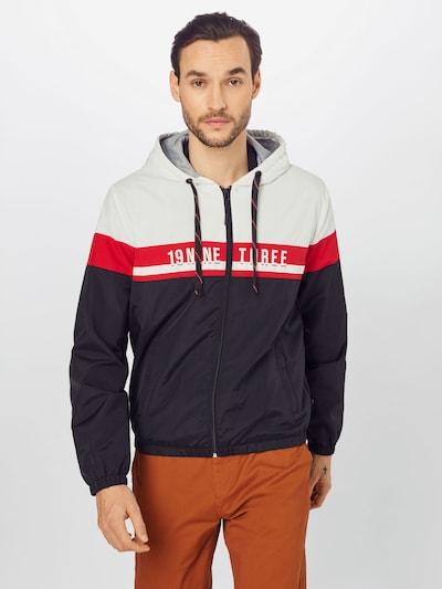 INDICODE JEANS Between-season jacket 'Charnwood' in red / black / white, View model