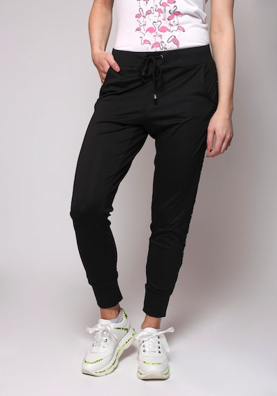 miss goodlife Hose Stripes in schwarz, Modelansicht
