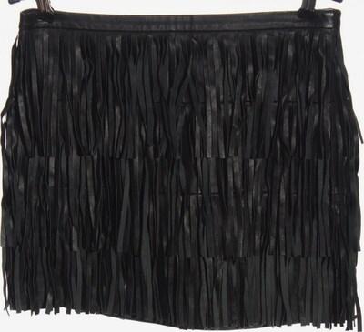 ZARA Lederrock in S in schwarz, Produktansicht