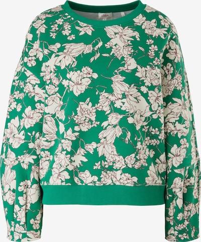 s.Oliver Sweatshirt in braun / grün / weiß, Produktansicht