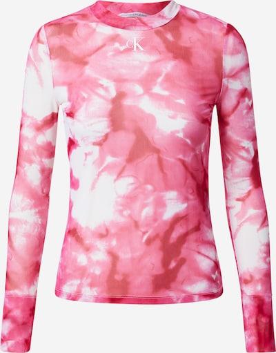 Calvin Klein Jeans Тениска в розово / питая / бяло, Преглед на продукта