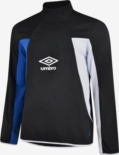 UMBRO Sportsweatshirt in blau / schwarz / weiß, Produktansicht