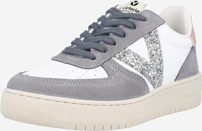 VICTORIA Zapatillas deportivas bajas en gris / rosa / blanco, Vista del producto