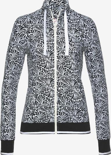 KangaROOS Zip-Up Hoodie in Black / White, Item view