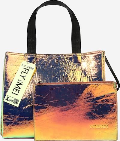 Shopper PATRIZIA PEPE di colore turchese / giallo oro / nero, Visualizzazione prodotti