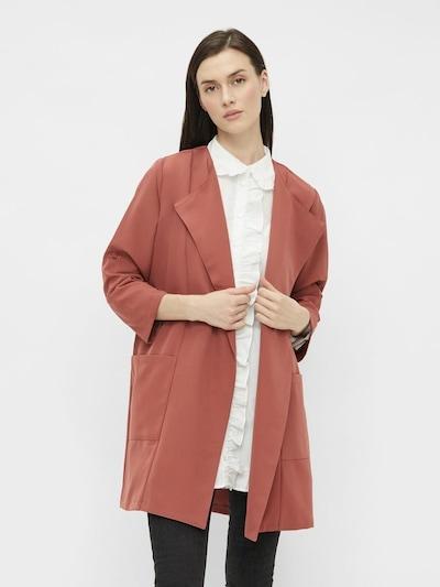 PIECES Manteau mi-saison en rose pastel, Vue avec modèle