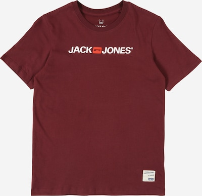 Jack & Jones Junior Shirt 'HISTORY' in de kleur Wijnrood / Wit, Productweergave