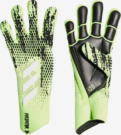 ADIDAS PERFORMANCE Sporthandschuhe in neongrün / schwarz, Produktansicht