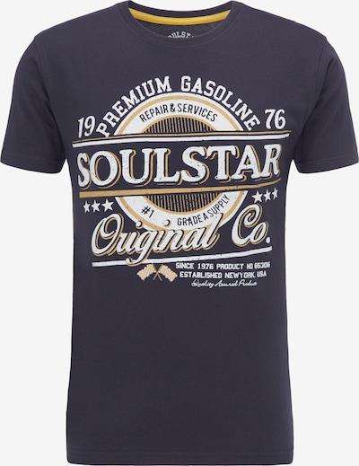 SOULSTAR Shirt in de kleur Marine / Geel / Wit, Productweergave