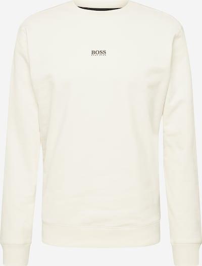 BOSS Casual Sweat-shirt 'Weevo 2' en noir / blanc naturel, Vue avec produit