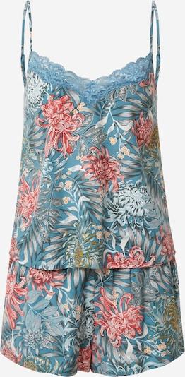 Hunkemöller Kort pyjamas 'Dahlia' i rökblå / blandade färger, Produktvy
