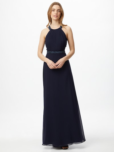 VM Vera Mont Abendkleid rückenfrei in dunkelblau, Modelansicht