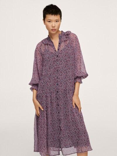 MANGO Kleid 'Amelie' in flieder / feuerrot / schwarz, Modelansicht