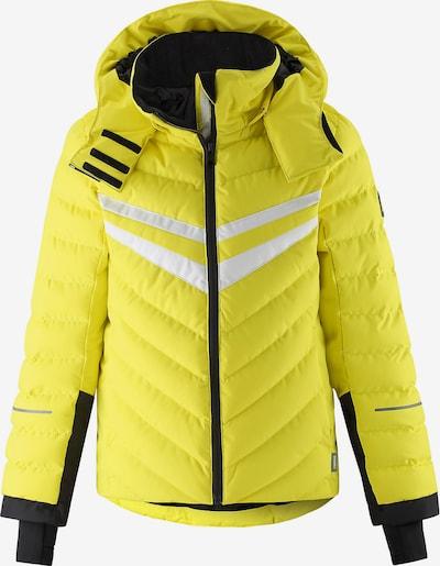 Reima Skijacke in limone / schwarz / weiß, Produktansicht