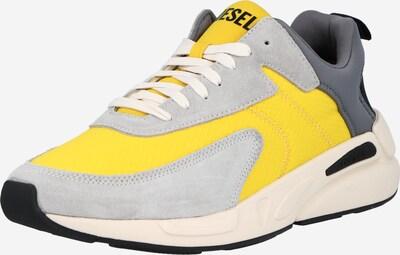 DIESEL Baskets basses 'SERENDIPITY' en jaune / gris clair / gris foncé, Vue avec produit