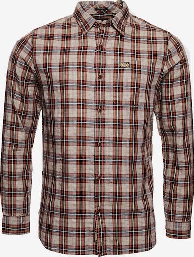 Superdry Langarmhemd in braun / mischfarben, Produktansicht