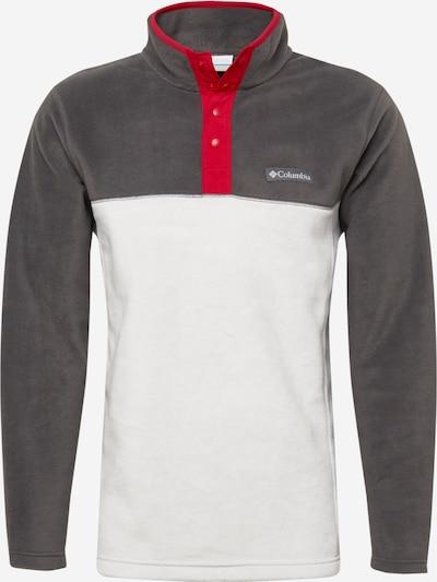 COLUMBIA Sporta džemperis 'Steens Mountain', krāsa - tumši pelēks / grenadīna / balts, Preces skats