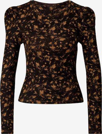 Noisy May (Petite) Majica 'Lea' u smeđa / crna, Pregled proizvoda