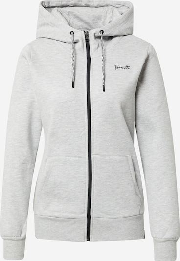 BRUNOTTI Sportief sweatvest 'Judy-N' in de kleur Grijs / Wit, Productweergave