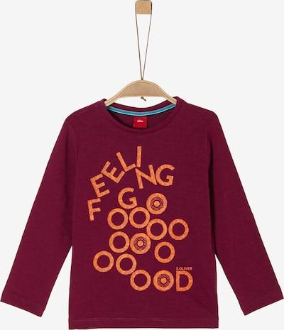 s.Oliver Shirt in weinrot, Produktansicht