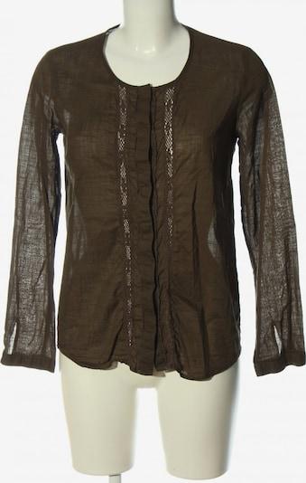 ZARA Langarm-Bluse in M in braun, Produktansicht