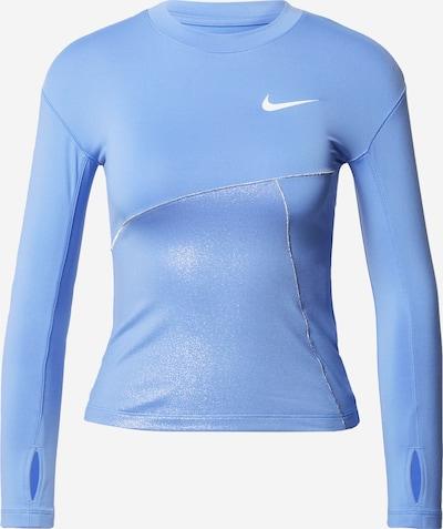 NIKE Sweat de sport en bleu clair / argent / blanc, Vue avec produit