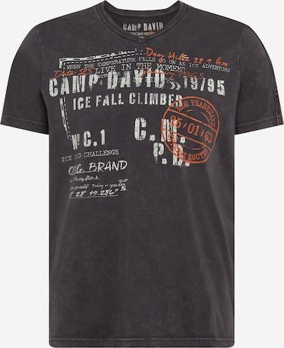 CAMP DAVID T-Shirt en gris foncé / orange foncé / blanc, Vue avec produit