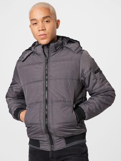 BLEND Jacke in graumeliert / schwarz: Frontalansicht