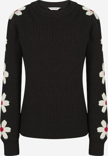 NAF NAF Pullover in rot / schwarz / weiß, Produktansicht