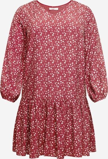 GLAMOROUS CURVE Kleid in blutrot / weiß, Produktansicht