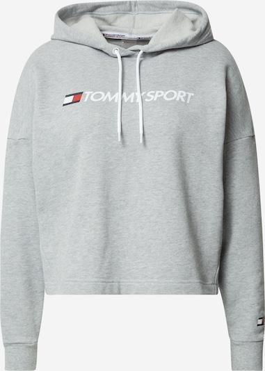 Tommy Sport Sportska sweater majica u siva / bijela, Pregled proizvoda