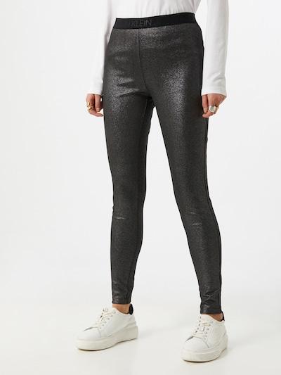 Calvin Klein Jeans Legíny 'Milano' - stříbrně šedá / černá, Model/ka
