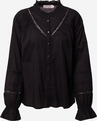 Cream Blouse 'Manna' in de kleur Zwart, Productweergave