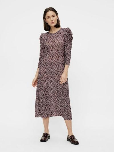 PIECES Kleid 'Gwena' in creme / lila / rosa / weiß, Modelansicht