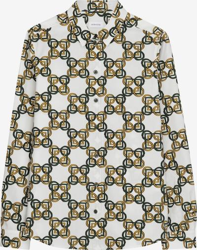 Bluză 'Schwarze Rose' SEIDENSTICKER pe verde / alb, Vizualizare produs