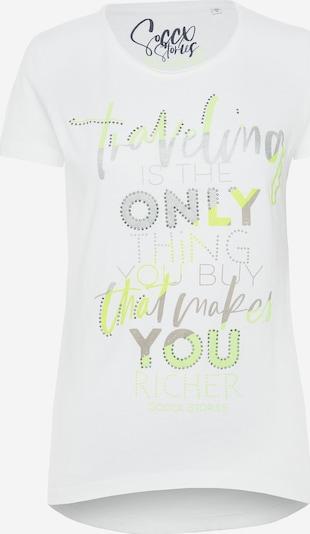 Soccx T-Shirt 'Glitter Artwork' in weiß, Produktansicht