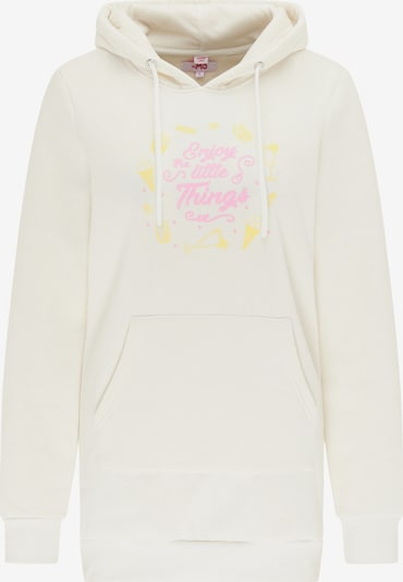 MYMO Sweatshirt in gelb / pink / wollweiß, Produktansicht