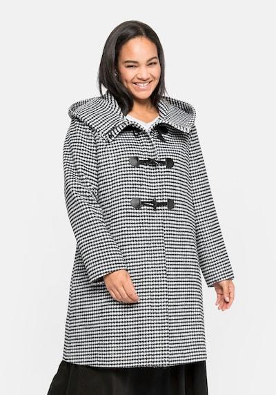 SHEEGO Přechodný kabát - černá / bílá, Model/ka